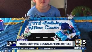 Police surprise child in Phoenix for birthday