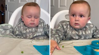 Sleepy baby pops right up when 'Cocomelon' theme plays