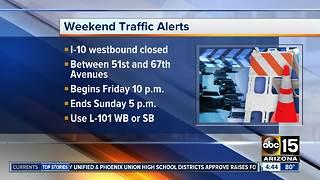 Weekend traffic closures