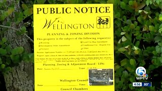 Wellington residents protesting against paving over two preserves