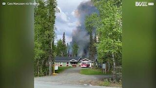 Motorhome explode e assusta moradores no Alaska