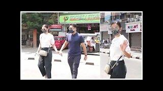 Gauahar Khan- Zaid Darbar Snapped Across Town