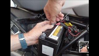 2017 BMW 1200GSA Battery Change Easy -Do it yourself!