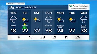 Low temperatures and flurries continue through Thursday night