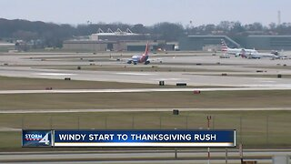 It's been a windy start to the Thanksgiving rush