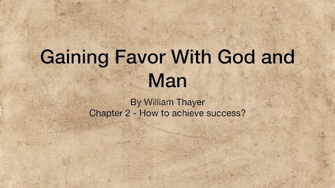 Chapter 2 - How to Achieve Success?
