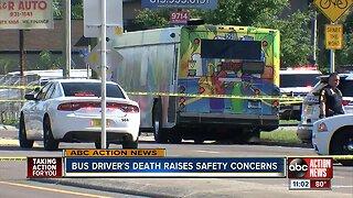 Bus driver's death raises safety concerns