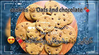 Cookies 🍪 oats and chocolate 🍫 very delicious 😋