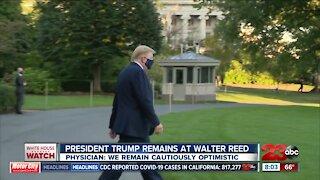 President Trump remains at Walter Reed