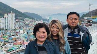 Mentor woman finally meets, quarantines with Korean parents