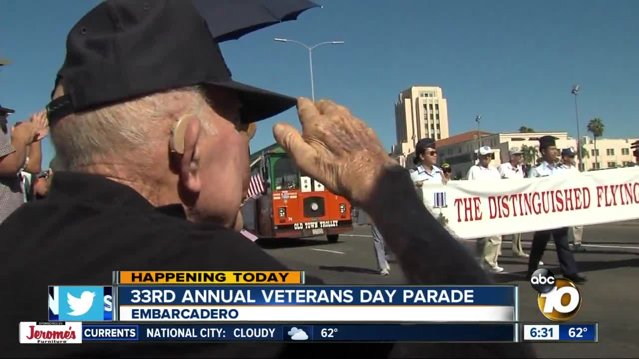 Veterans being honored in annual Veterans Day Parade