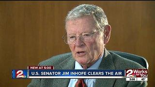 U.S. Senator Jim Inhofe speaks on controversy