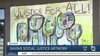 Artwork emerged in La Mesa after businesses were damaged