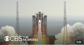 Remenant of Chinese Rocket expected to fall in earth