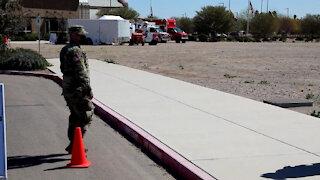Arizona Guard Helps Pima County at Testing, Vaccination Site