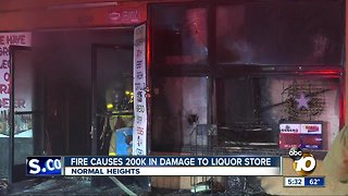 Fire causes 200K in damage at Normal Heights store