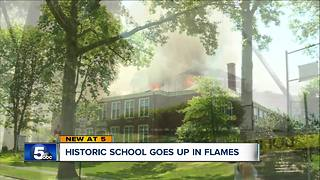 Roof collapses during fire at Shaker Heights elementary school