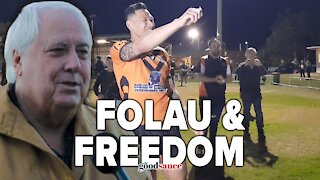 Clive Palmer at Israel Folau's first game back