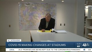 COVID-19 making changes at stadiums