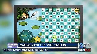 Kids using technology to learn math skills