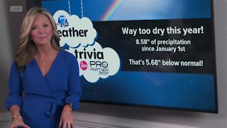 Weather trivia: A dry end to 2020