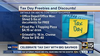 Celebrate Tax Day with big savings!