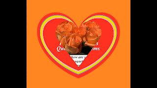 Good morning my love, brought a orange roses bouquet, love you! [Message] [Quotes and Poems]