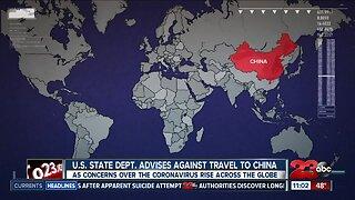 U.S. State Dept. advises against travel to China