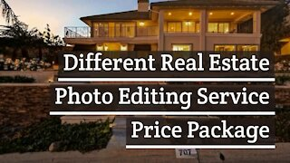 Different Real Estate Photo Editing Service Price Package