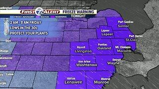 Freeze Warning Tonight