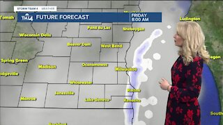 Skies stay cloudy Friday with temperatures in the low to mid 30s