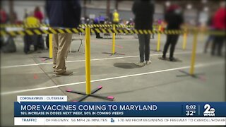 More vaccines coming to Maryland