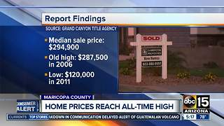 Home prices on the rise in Maricopa County