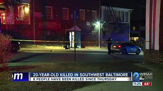 20-year-old killed Sunday evening in Southwest Baltimore