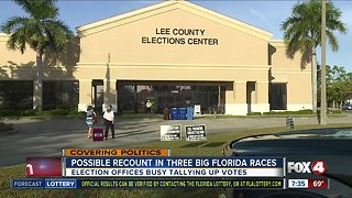 Three big races in Florida could trigger recount