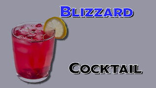 Making a Blizzard Cocktail Recipe