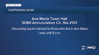 Ave Maria Town Hall meeting