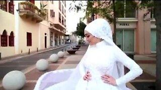 Bride in viral Beirut blast video is from metro Detroit