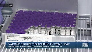 How does vaccine distribution work in extreme heat?