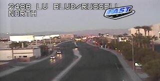 TRAFFIC ALERT: Police activity near Las Vegas Boulevard, Russell
