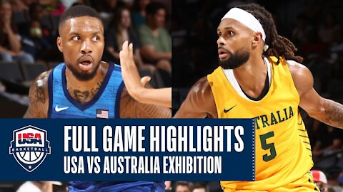 USA vs. Australia EXHIBITION FULL GAME HIGHLIGHTS JULY 12, 2021 For TOKYO OLYMPICS