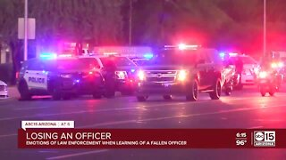 Emotions of law enforcement when learning of a fallen officer