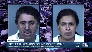 Human remains found in Phoenix home, parents in custody