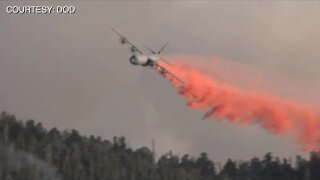 Military airplanes activated to help fight wildfires