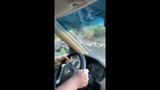 I-70 driver gets caught in Glenwood Canyon mudslides