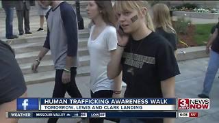 Human trafficking awareness walk