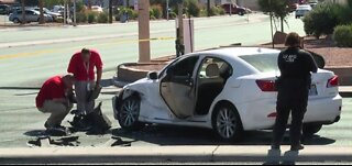 Shots fired after crash