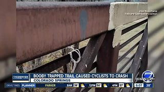 Booby traps on trails in Colorado Springs