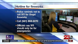 Hotline to report illegal fireworks