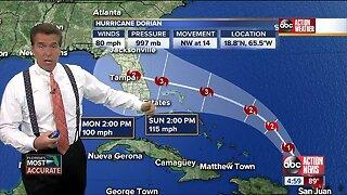 Hurricane Dorian | 5 p.m. update